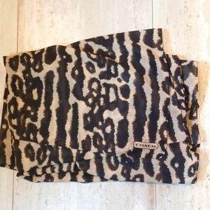 Large Coach Blanket Wrap Scarf